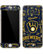 Milwaukee Brewers - Cap Logo Blast iPhone 6/6s Skin