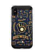Milwaukee Brewers - Cap Logo Blast iPhone XS Max Cargo Case