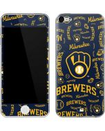 Milwaukee Brewers - Cap Logo Blast Apple iPod Skin