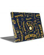 Milwaukee Brewers - Cap Logo Blast Apple MacBook Air Skin