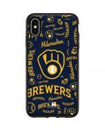 Milwaukee Brewers - Cap Logo Blast Otterbox Symmetry iPhone Skin