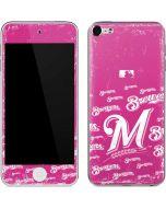 Milwaukee Brewers - Pink Cap Logo Blast Apple iPod Skin