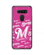 Milwaukee Brewers - Pink Cap Logo Blast LG K51/Q51 Clear Case