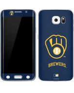 Milwaukee Brewers - Solid Distressed Galaxy S6 Edge Skin