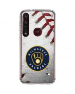 Milwaukee Brewers Game Ball Moto G8 Plus Clear Case