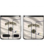 Milwaukee Brewers Home Jersey Galaxy Z Flip Skin