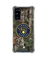 Milwaukee Brewers Realtree Xtra Green Camo Galaxy S20 FE Clear Case