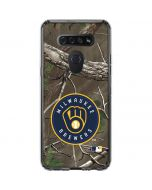 Milwaukee Brewers Realtree Xtra Green Camo LG K51/Q51 Clear Case