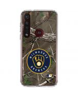 Milwaukee Brewers Realtree Xtra Green Camo Moto G8 Plus Clear Case