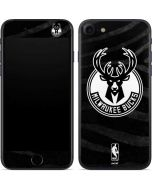 Milwaukee Bucks Animal Print Black iPhone SE Skin