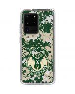 Milwaukee Bucks Camo Digi Galaxy S20 Ultra 5G Clear Case
