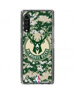 Milwaukee Bucks Camo Digi LG Velvet Clear Case