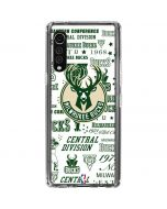 Milwaukee Bucks Historic Blast New LG Velvet Clear Case