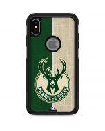 Milwaukee Bucks Split Canvas Otterbox Commuter iPhone Skin