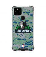 Minnesota Timberwolves Digi Camo Google Pixel 5 Clear Case
