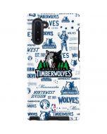 Minnesota Timberwolves Historic Blast Galaxy Note 10 Pro Case