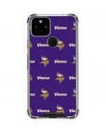 Minnesota Vikings Blitz Series Google Pixel 5 Clear Case