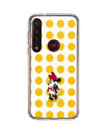 Minnie Mouse Yellow Dots Moto G8 Plus Clear Case