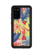 Mirrored Flowers Galaxy S20 Waterproof Case