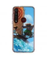 Moana and Maui Ride the Wave Moto G8 Plus Clear Case
