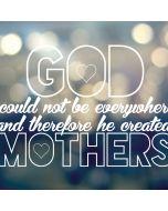 God Created Mothers Apple iPad Skin