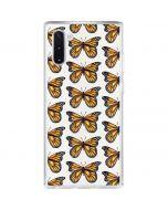 Monarch Butterflies Galaxy Note 10 Clear Case