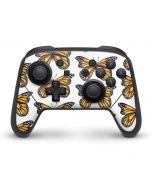 Monarch Butterflies Nintendo Switch Pro Controller Skin