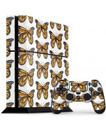Monarch Butterflies PS4 Console and Controller Bundle Skin