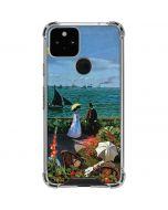Monet - The Terrace at Sainte-Adresse Google Pixel 5 Clear Case
