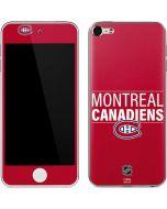 Montreal Canadiens Lineup Apple iPod Skin