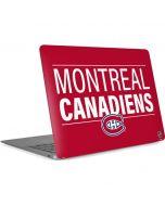 Montreal Canadiens Lineup Apple MacBook Air Skin