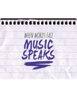 When Words Fail Music Speaks iPhone X Waterproof Case