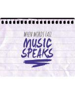 When Words Fail Music Speaks HP Envy Skin