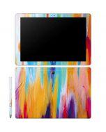 Multicolor Brush Stroke Galaxy Book 12in Skin