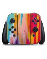 Multicolor Brush Stroke Nintendo Switch Joy Con Controller Skin