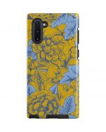 Mustard Yellow Floral Print Galaxy Note 10 Pro Case