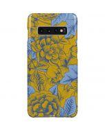 Mustard Yellow Floral Print Galaxy S10 Plus Lite Case