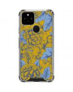 Mustard Yellow Floral Print Google Pixel 5 Clear Case