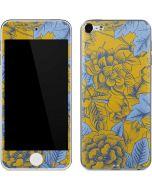 Mustard Yellow Floral Print Apple iPod Skin
