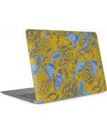 Mustard Yellow Floral Print Apple MacBook Air Skin