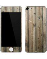 Natural Weathered Wood Apple iPod Skin