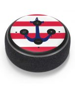 Nautical Stripes Amazon Echo Dot Skin