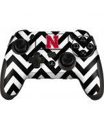 Nebraska Black Chevron Print PlayStation Scuf Vantage 2 Controller Skin