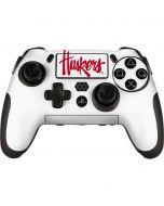 Nebraska Huskers White PlayStation Scuf Vantage 2 Controller Skin