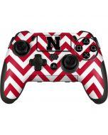 Nebraska Red Chevron Print PlayStation Scuf Vantage 2 Controller Skin