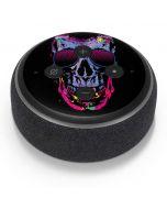 Neon Skull with Glasses Amazon Echo Dot Skin