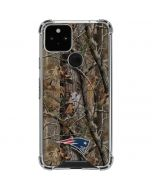 New England Patriots Realtree AP Camo Google Pixel 5 Clear Case