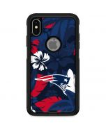 New England Patriots Tropical Print Otterbox Commuter iPhone Skin