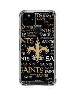 New Orleans Saints Black Blast Google Pixel 5 Clear Case