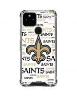 New Orleans Saints Gold Blast Google Pixel 5 Clear Case